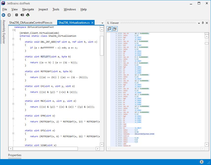 Virtualized code interprets each instruction